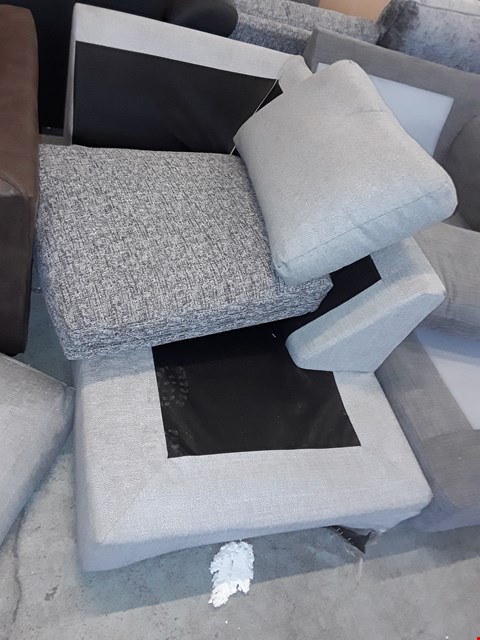 Lot 7123 DESIGNER GREY FABRIC SOFA SECTION