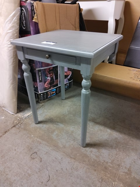 Lot 9073 DESIGNER GREY LAMP TABLE