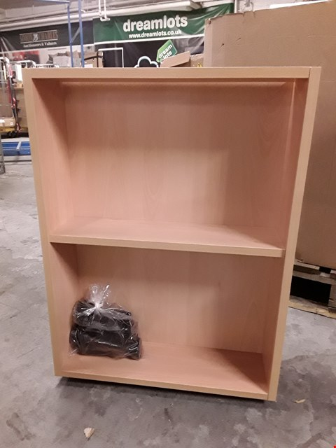 Lot 731 LIGHT OAK EFFECT BASE OPEN SHELF UNIT - 500MM