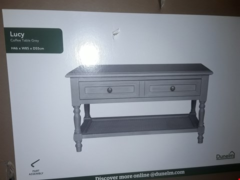 Lot 1095 BOXED DESIGNER LUCY COFFEE TABLE GREY