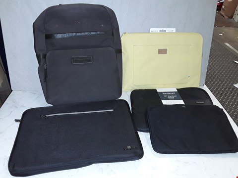 Lot 6186 LOT OF 5 ASSORTED LAPTOP SLEEVES AND BAGS TO INCLUDE SANDSTORM, GOLLA AND JBL