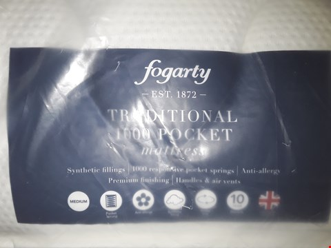 Lot 7036 QUALITY BAGGED FOGARTY TRADITIONAL 1000 POCKET 135CM DOUBLE MATTRESS