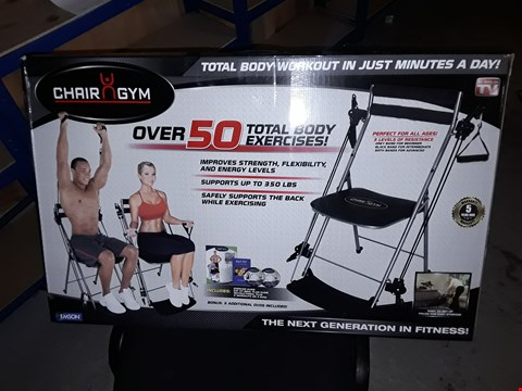 Lot 966 BOXED CHAIR GYM TOTAL BODY EXERCISE MACHINE BLACK