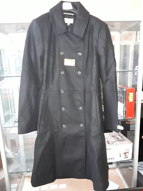 Lot 4153 BRAND NEW LADIES DESIGNER SOMERSET BLACK ITALIAN CASHMERE FABRIC DOUBLE BREASTED COAT Size 16 RRP £299.00