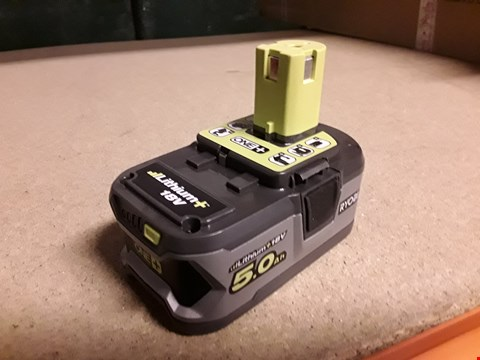 Lot 11 RYOBI RB18L50 ONE+ 18V 5.0AH BATTERY ( unboxed) RRP £129.99