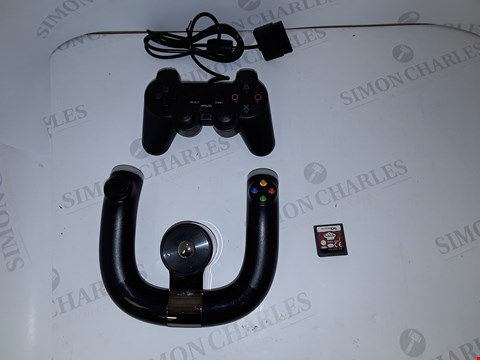 Lot 7209 LOT OF 3 ASSORTED CONSOLE ITEMS TO INCLUDE PS2 CONTROLLER, XBOX 360 CONTROLLER AND NINTENDO DS SUITE LIFE GAME