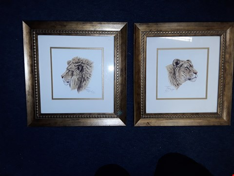 Lot 8 STEPHEN GAYFORD 'LION AND LIONESS' PORTRAIT NUMBERED 822/1250