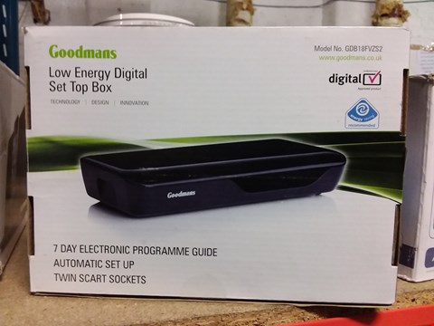 Lot 772 BOXED GOODMANS LOW ENERGY DIGITAL SET TOP BOX