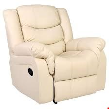 Lot 94 DESIGNER BOXED SEATTLE CREAM LEATHER RISE AND RECLINE ARMCHAIR (2 BOXES)