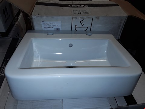 Lot 318 WATERMARK 450 2-TAP WHITE CERAMIC CLOAKROOM BASIN