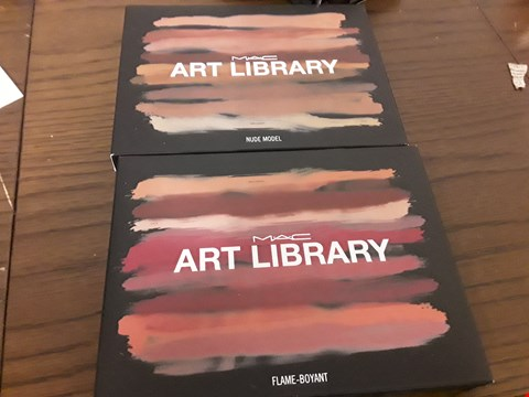 Lot 7091 LOT OF 2 M.A.C ART LIBRARY EYESHADOW PALETTES