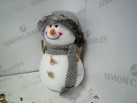 Lot 13131 PLUSH GREY SNOWMAN  RRP £23.00