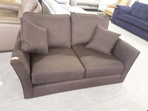 Lot 211 QUALITY BRITISH DESIGNER CHOCOLATE FABRIC 2 SEATER SOFA