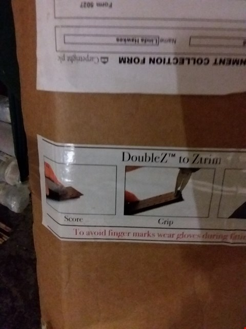 Lot 3096 LOT OF 7 PACKS OF DOUBLE Z 90CM DOUBLE EDGED CARPET TRIMS IN VARIOUS COLOURS