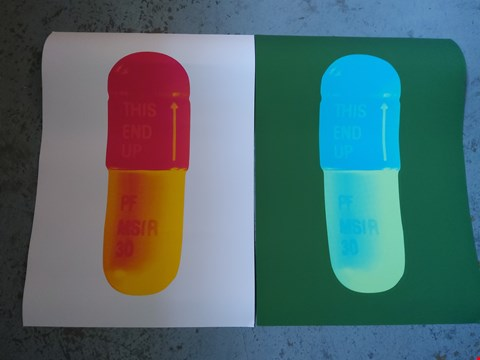 Lot 14003 2 DAMIAN HIRST THE CURE NEW PILLS PRINTS