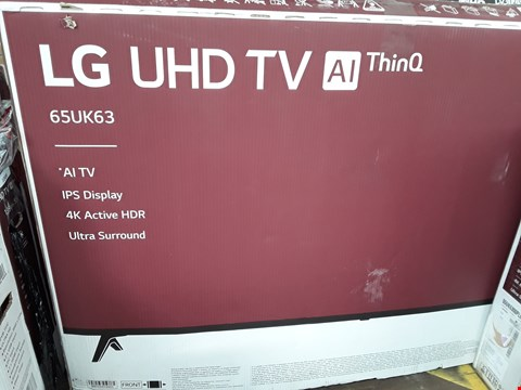 "Lot 1075 LG 65"" UHD THINQ 4K ACTIVE HDR TELEVISION MODEL 65UK6300PLB"