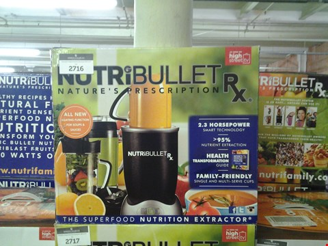 Lot 169 BOXED NUTRIBULLET RX NUTRITION EXTRACTOR WITH HEATING FUCTION FOR SOUPS AND SAUCES  RRP £199.99