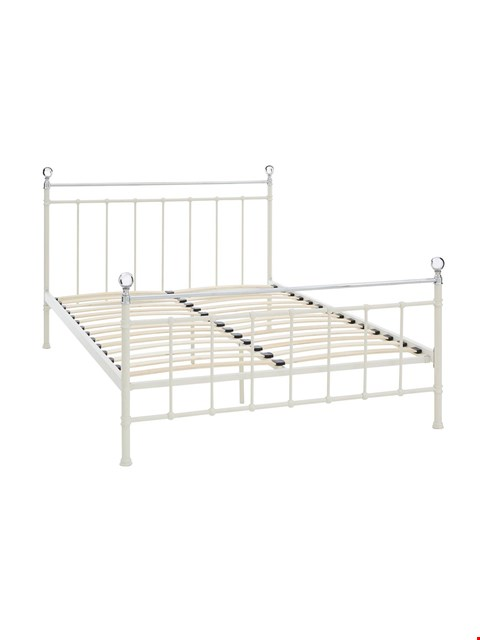 Lot 3599 BOXED FRANCESCA SMALL DOUBLE BED FRAME - BLACK (2 BOXES)