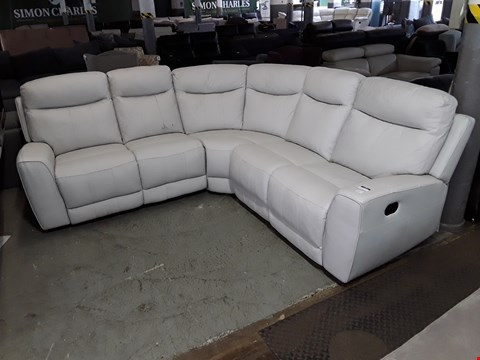 Lot 1 DESIGNER HITE FAUX LEATHER MANUAL RECLINING CORNER GROUP