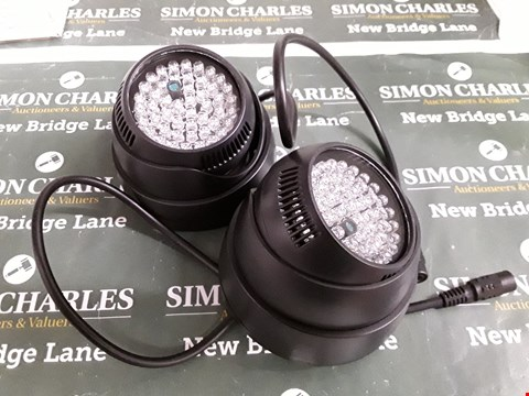 Lot 5203 PAIR LED EXTERIOR SECURITY LIGHTS