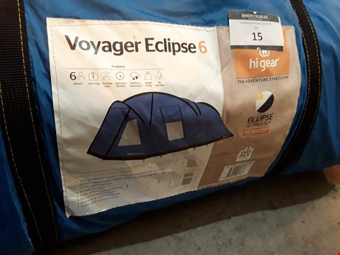 Lot 15 HIGEAR VOYAGER ECLIPSE 6 TENT