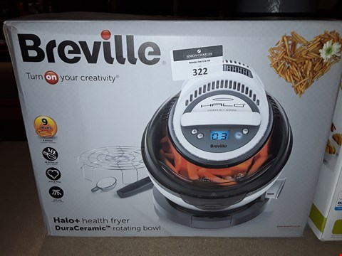 Lot 322 BREVILLE HALO+ DURACERAMIC HEALTH FRYER  RRP £259.99