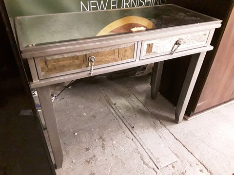 Lot 218 DESIGNER EASTERN PALACE  DISTRESSED MIRRORED DRESSING TABLE FITTED 2 DRAWERS