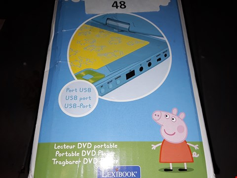Lot 48 PEPPER PIG PORTABLE DVD PLAYER  RRP £99.99