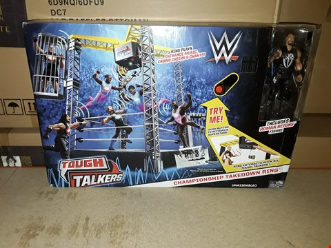 Lot 2006 WWE TOUGH TALKERS TAKE DOWN RING AND FIGURES RRP £83