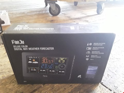 Lot 19 DESIGNER BOXED FAN JU DELUXE COLOUR DIGITAL WIFI WEATHER FORECASTER