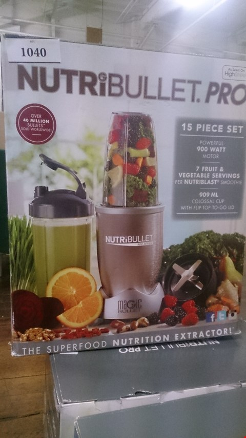 Lot 1040 4 BOXED NUTRIBULLET PRO NUTRITION EXTRACTORS.