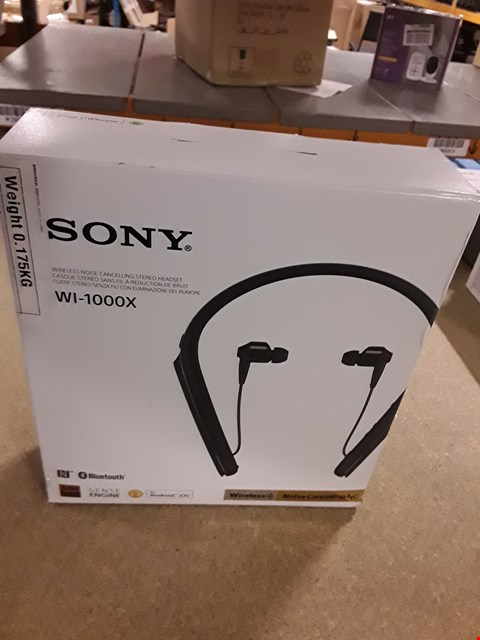 Lot 9043  SONY WI-1000X WIRELESS NOISE CANCELLING STEREO HEADSET