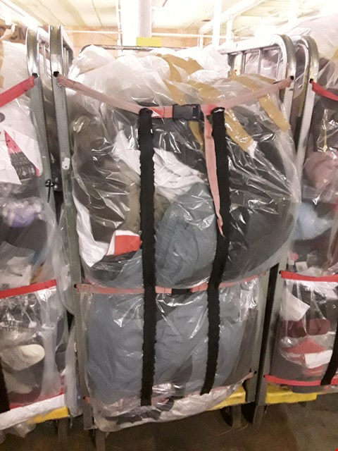 Lot 242 CAGE OF UNPROCESSED ADULT DESIGNER CLOTHING (CAGE NOT INCLUDED)