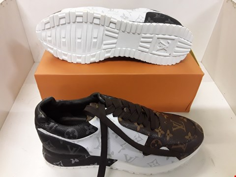 Lot 4103 PAIR OF DESIGNER TRAINERS IN THE STYLE OF LOUIS VUITTON SIZE EU 44
