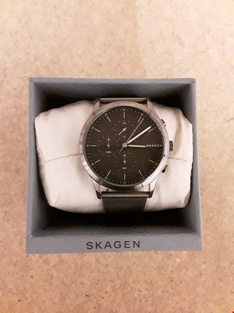 Lot 2246 SKAGEN JORN GUNMETAL IP STAINLESS STEEL CHRONOGRAPH MENS WATCH RRP £169
