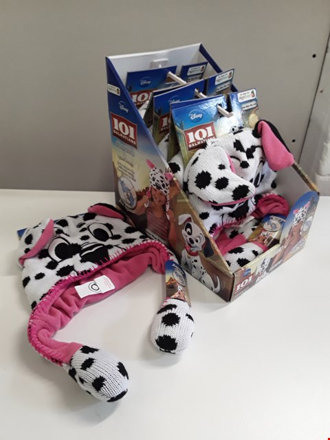 Lot 70 BRAND NEW BOXED CDU CONTAINING 6 DISNEY 101 DALMATIONS FLIPPERS CHILDREN'S HATS - ONE SIZE