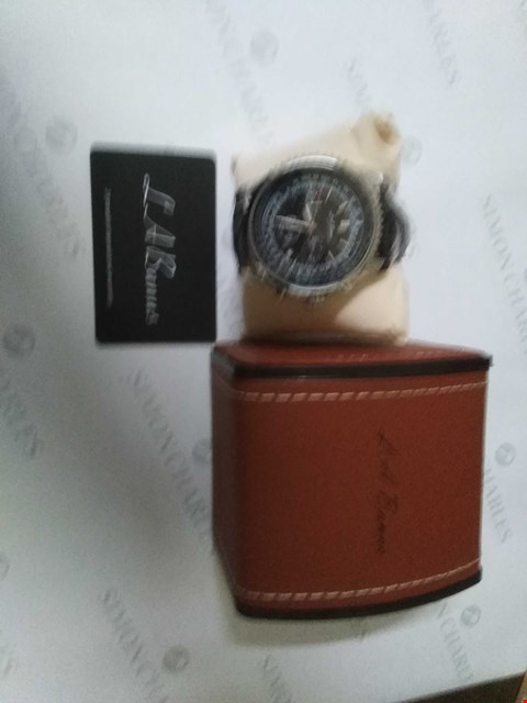 Lot 49 BRAND NEW BOXED L.A. BANUS BLACK STRAP WRIST WATCH
