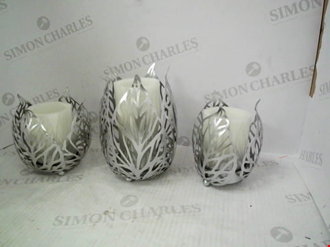 Lot 1308 A 3 SET ALISON AT HOME ELECTRIC CANDLE SET