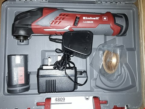 Lot 4803 EINHELL RT-MG 10.8 LI CORDLESS MULTI-FUNCTION TOOL WITH CARRY CASE  - MULTI-COLOUR