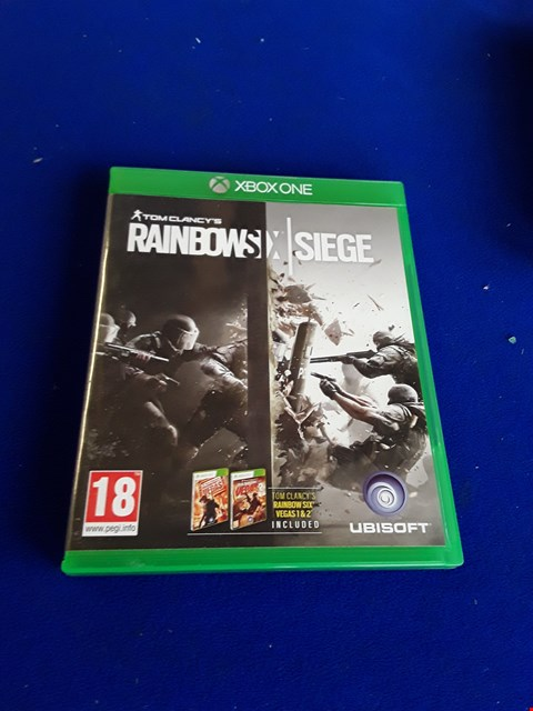 Lot 7643 TOM CLANCY'S RAINBOW SIX SIEGE XBOX ONE GAME