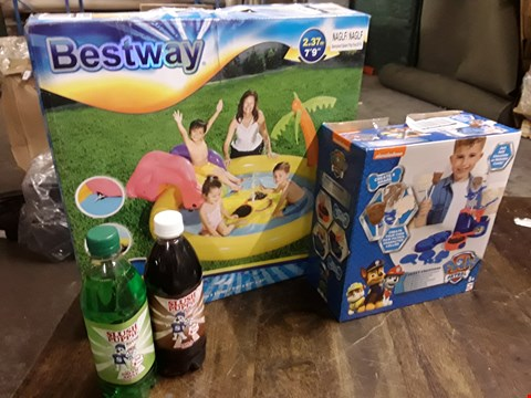 Lot 2034 LOT OF 3 ASSORTED TOY ITEMS TO INCLUDE PAW PATROL SWEET CREATIONS, BEST WAY POOL, AND SLUSH PUPPIES REFILLS  RRP £49.00