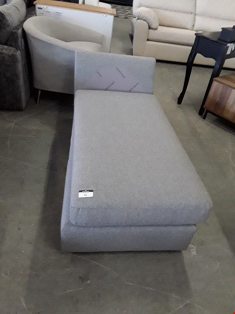 Lot 61 QUALITY BRITISH DESIGNER GREY FABRIC SOFA SECTION