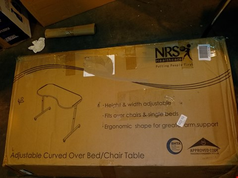 Lot 8367 NRS ADJUSTABLE TILTING OVER BED & OVER CHAIR TABLE