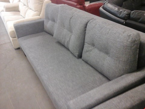 Lot 4 QUALITY BRITISH MADE HARDWOOD FRAMED LIGHT GREY SOFA BED