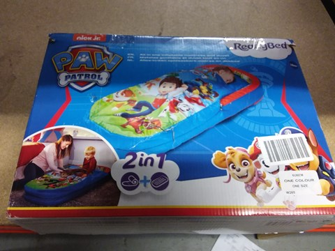 Lot 7182 PAW PATROL MY FIRST READY BED RRP £44.99