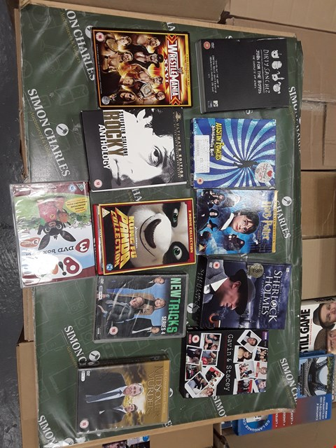 Lot 12048 APPROXIMATELY 18 DVDS BOX SETS AND DVDS TO INCLUDE,  FRIENDS  ,KUNG FU  PANDA , SHERLOCK HOLMES, GAVIN & STACEY & MORE