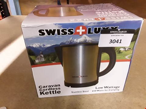 Lot 3041 SWISS LUXX 12V LOW WATTAGE KETTLE