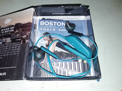 Lot 7253 URBANISTA 1033211 BOSTON WIRELESS WATER RESISTANT IN-EAR HEADPHONES - CORAL ISLAND - BLUE RRP £44.00