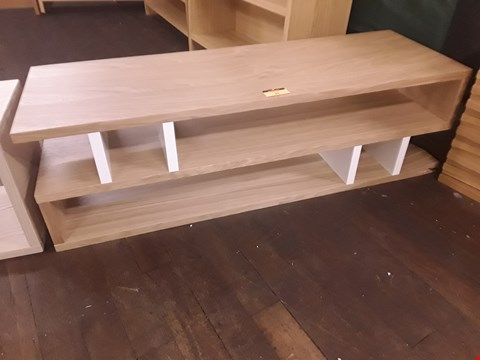 Lot 24 DESIGNER TERENCE CONRAN OAK & WHITE COUNTER BALANCE COFFEE TABLE W120 × D40 × H36 RRP £499