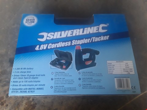 Lot 1261 SILVERLINE 4.8V CORDLESS STAPLER/TRACKER